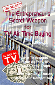 TV Commercial Air TIme Buying inside secrets ebook to save thousands of dollars on advertisgin on television from www.globalvizion.net